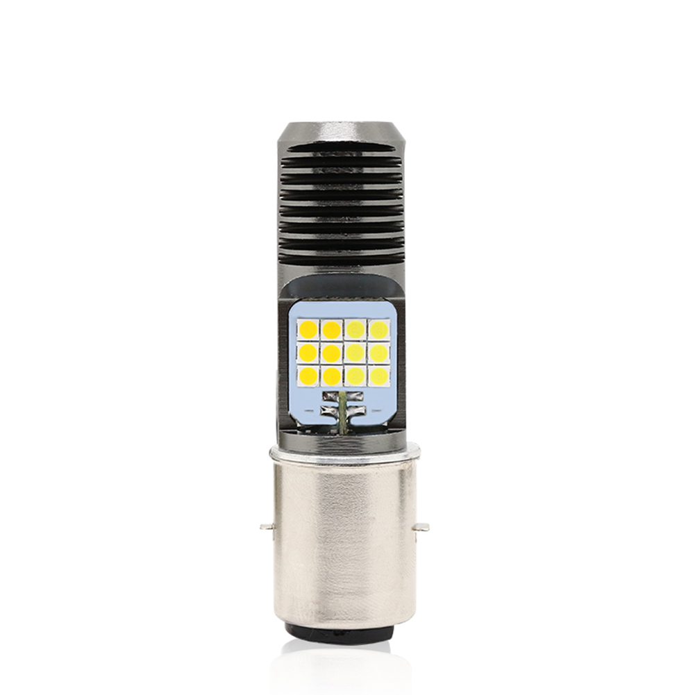 Motorcycle Led Headlight White Light Electric Bike Headlights High And Low Beam Headlights White light_BA20D double claw