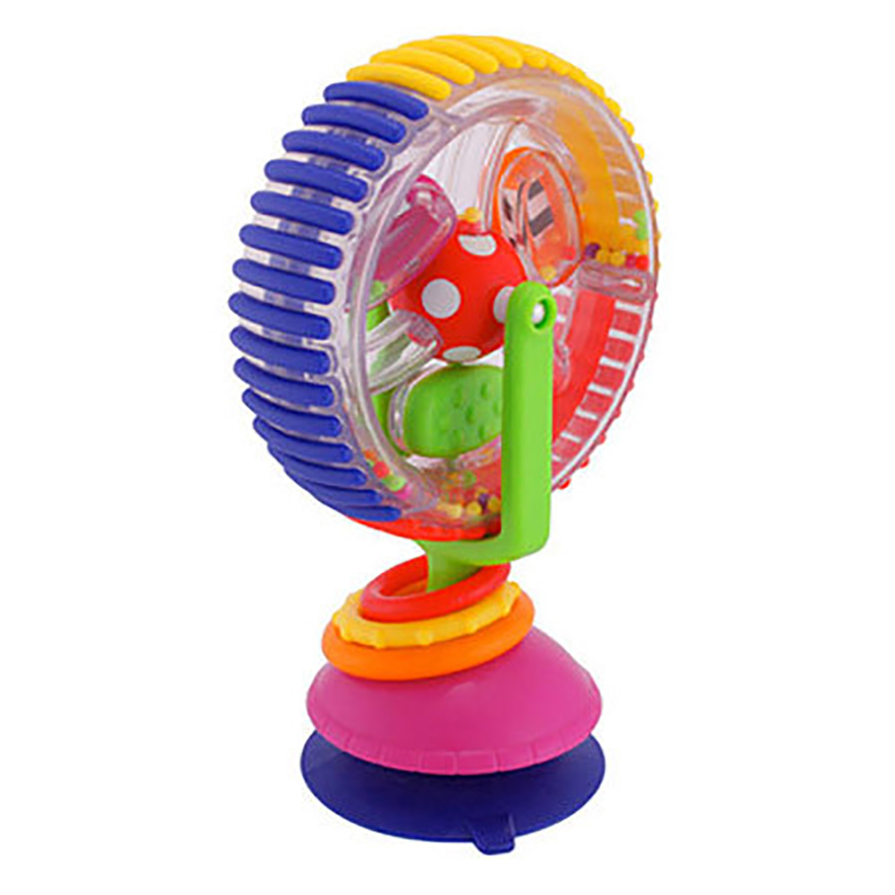 [Indonesia Direct] Multifunction 3 Colors Rotating Ferris Wheel Shape Windmill Toy for Baby Infant windmill