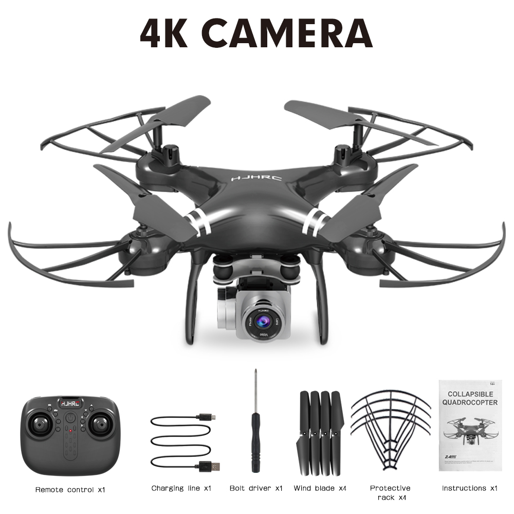 HJ101 Wifi Camera Air Pressure Fixed Height Face Recognition Drone Black 4K+ face recognition