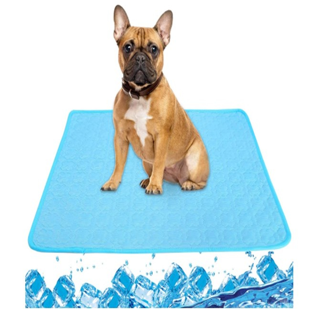 Summer Ice  Pad For Pet Cold Feeling Sofa Cushion Car Seat Cover 70*55cm Dog Cat Cool Cushion Blue L size