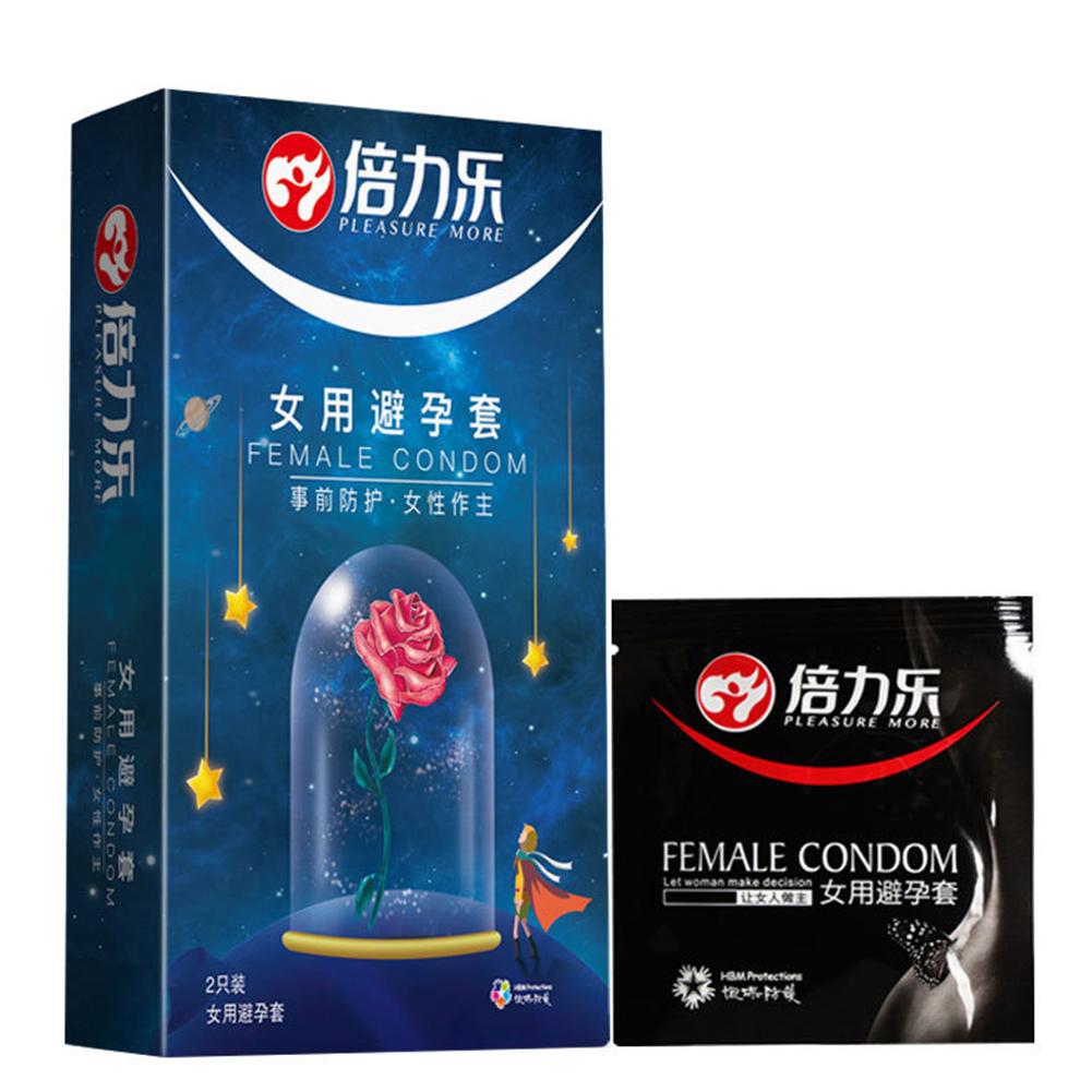 2 pcs Female Condoms Adult Sensitive Orgasm Latex Stimulate Condom Couple Sex Products Sex Toys Women