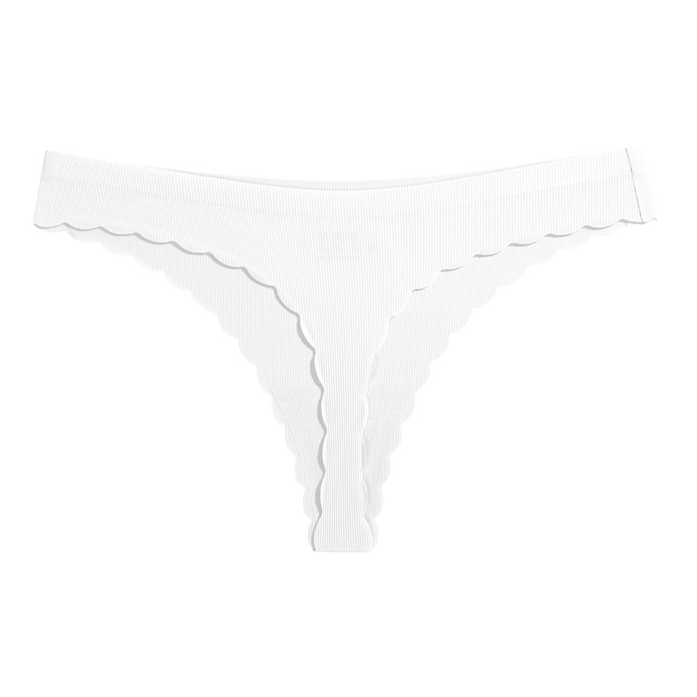 Women Low Waist Briefs Sexy G-String Underpants for Adults White_XL