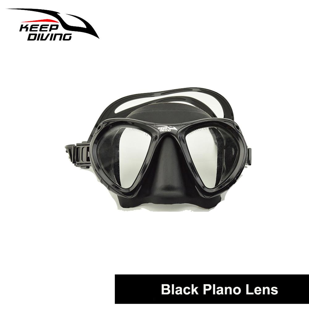 DM406+SN506 Professional Full-dry Snorkeling Mask Foldable for adult Scuba Diving Mask black_Ordinary tube lens eyeglass set