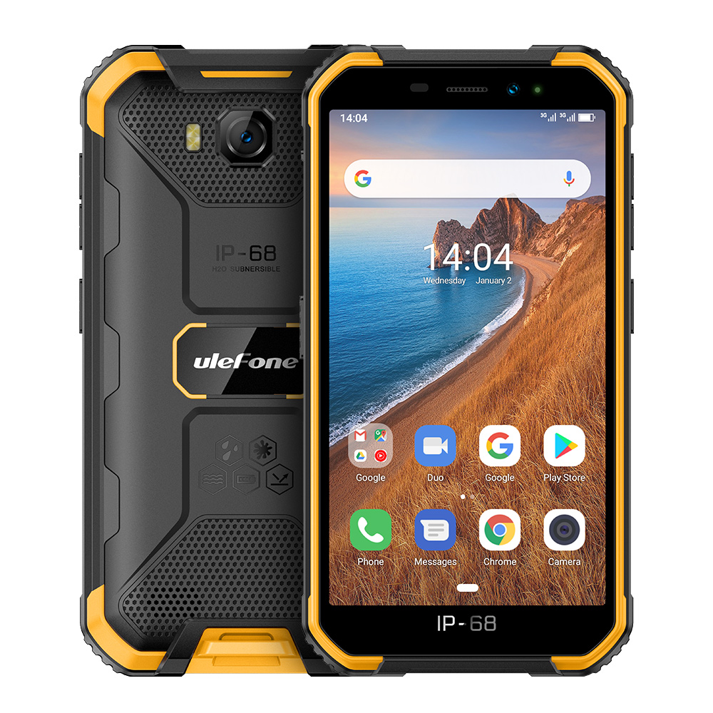 Original ULEFONE Armor X6 Phone 5.0inch HD Screen 2G RAM+16GB ROM Memory 5MP+8MP Camera 4000mAh Battery Android 9.0 OS yellow
