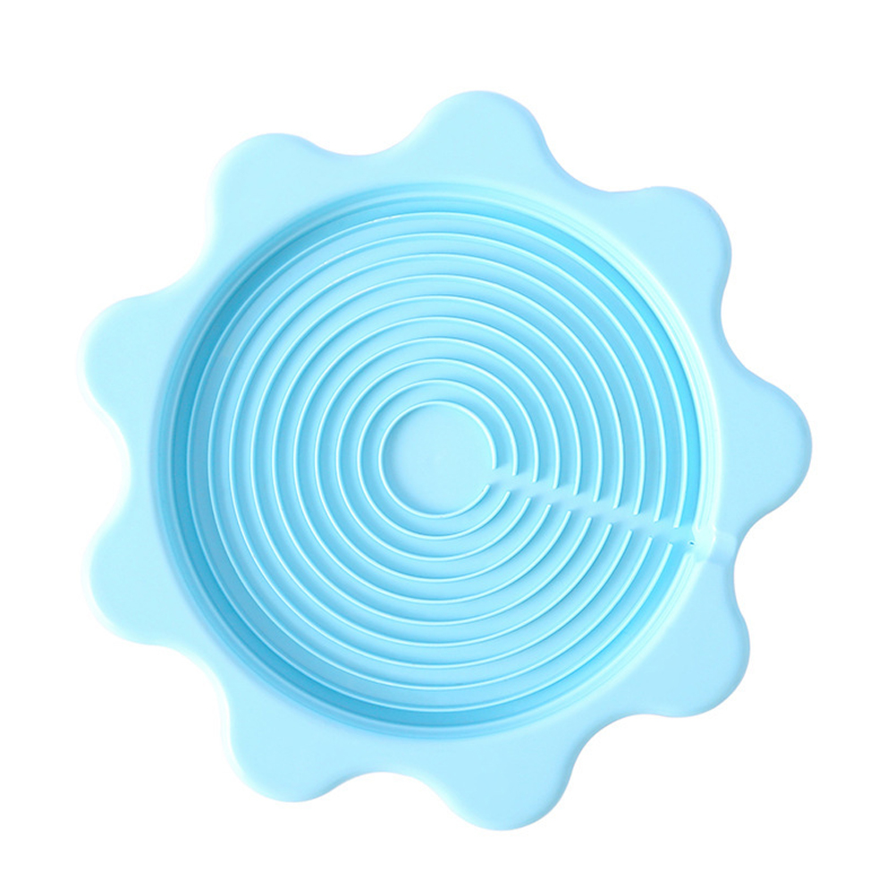 Insulation Pad Anti Scalding Drain Tray Coaster for Home Kettle blue