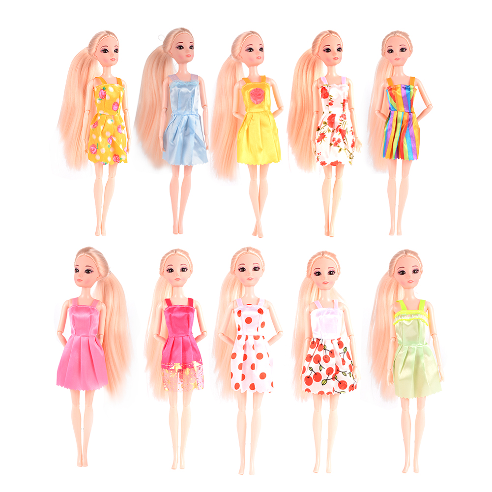 [EU Direct] 10 pcs Fashion Handmade Dresses outfit doll Toy (color random) by Lanlan