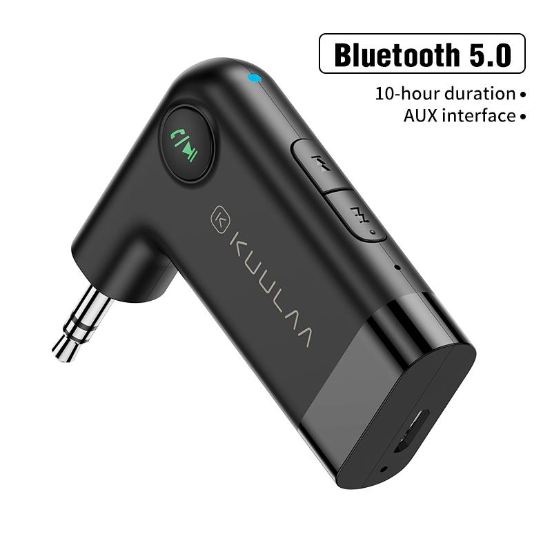 Car Bluetooth 5.0 Hands-free Wireless Car Aux Bluetooth Audio Receiver black