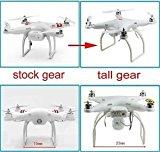 [EU Direct] Hobbypower Tall Landing Gear for DJI Phantom 1 2 Vision Quadcopter Wide & High Extend (White)