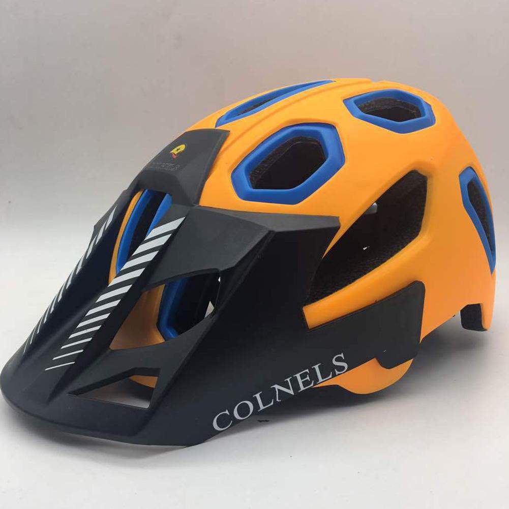 Riding Helmet Bicycle Floppy Hat Mountain Bike Helmet for Women and Men Orange_One size