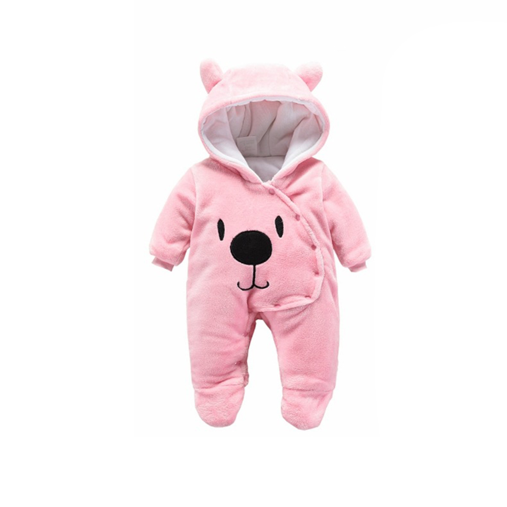 Baby Thicken Flannel Rompers Hooded Clothes