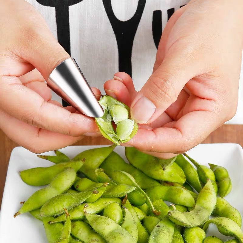 1Pc Stainless Steel Nail Cover Anti-Cutting Finger Cover Picking Cutting Vegetables Nut Shelling Kitchen Tool