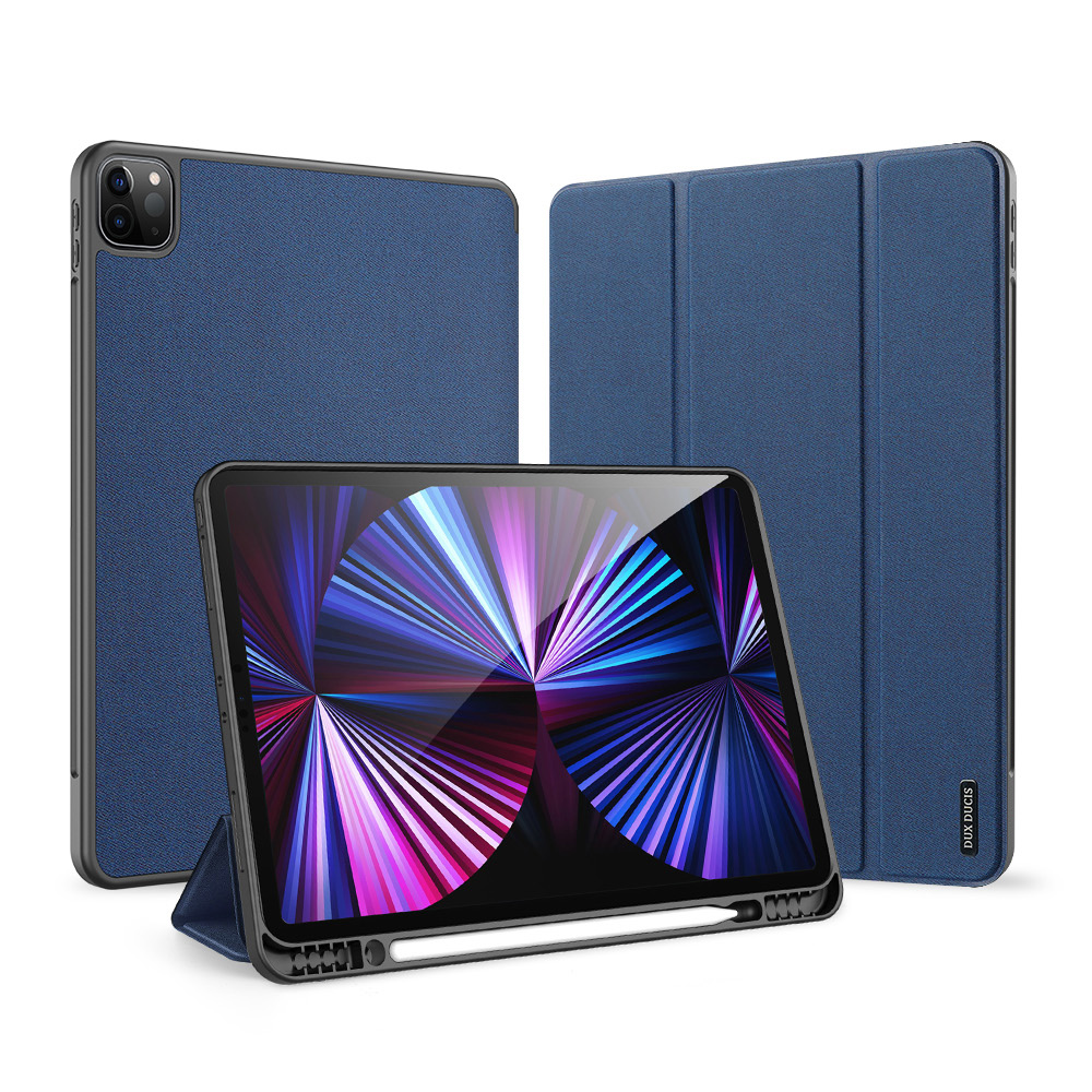Solid Color Protective Case Tablet Case Cover With Pen Tray For Ipad Pro 12.9 2021 Royal blue