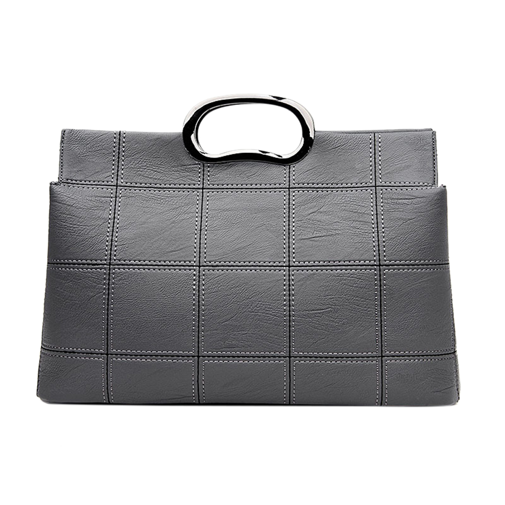 Women Handbag Luxury PU Leather Plaid Messenger Shoulder Bags Ladies Crossbody Bag with Metal handle