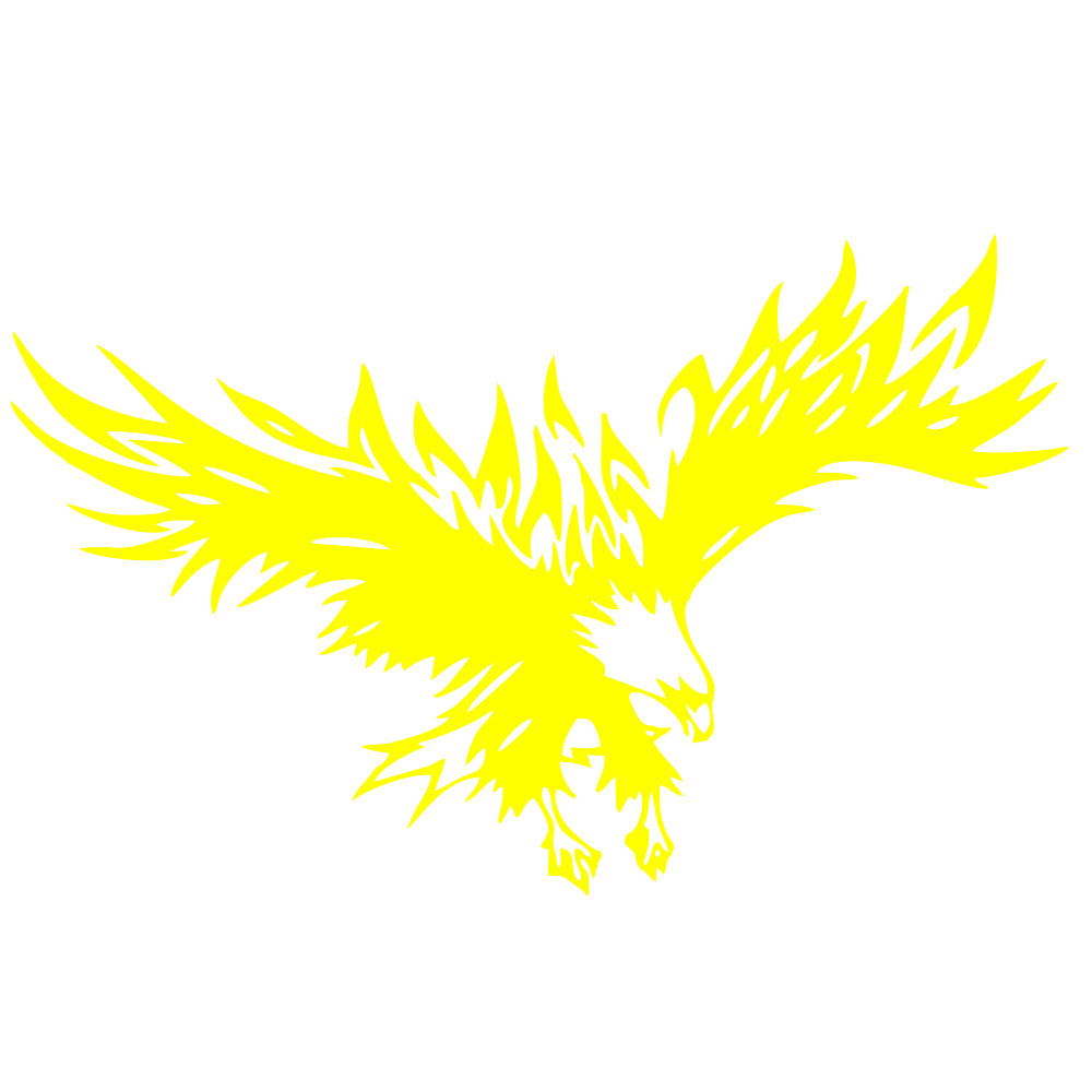 50 * 80cm Animal Eagle Car-styling Motorcycle Car Sticker Vinyl Decal yellow