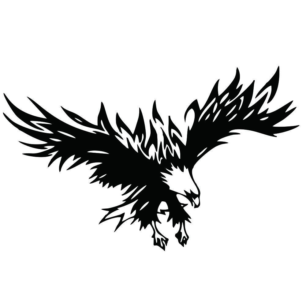 50 * 80cm Animal Eagle Car-styling Motorcycle Car Sticker Vinyl Decal black