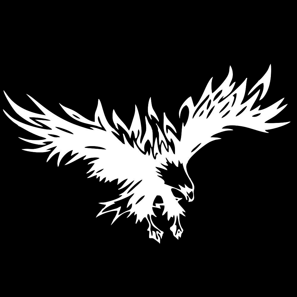 50 * 80cm Animal Eagle Car-styling Motorcycle Car Sticker Vinyl Decal white