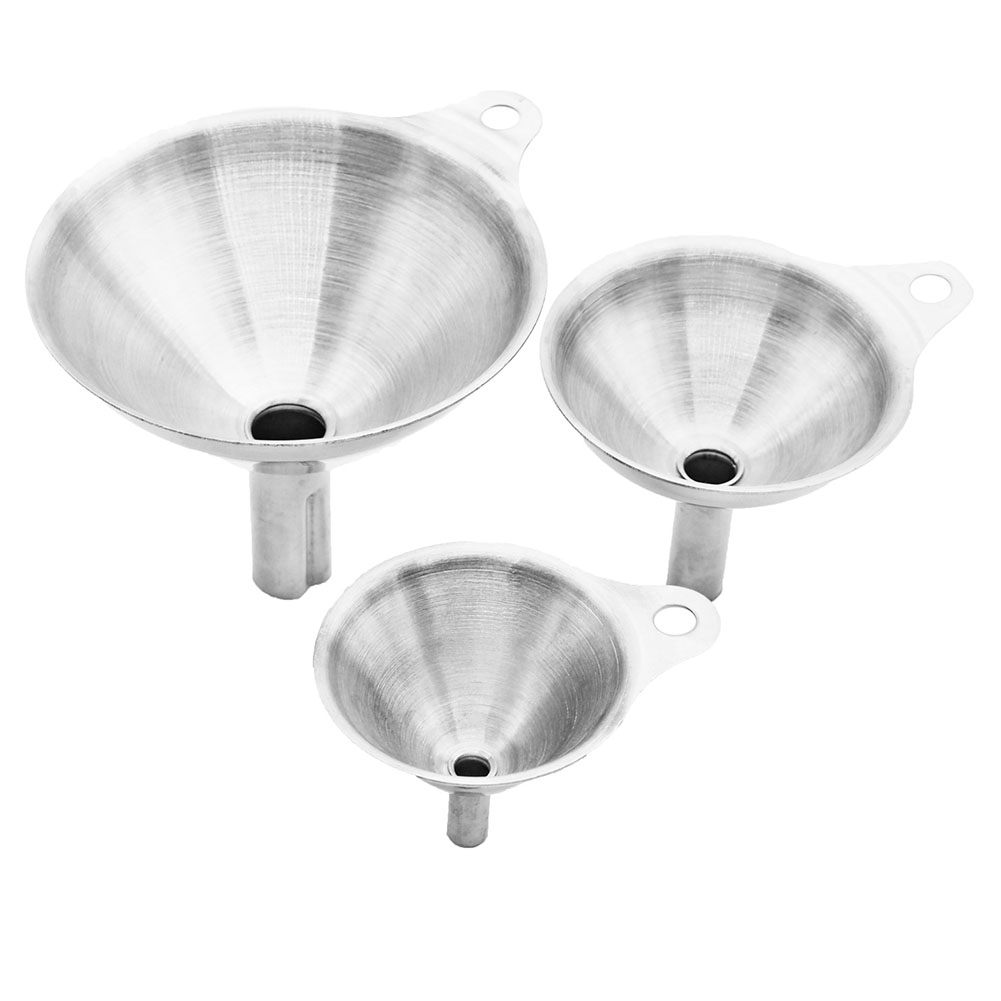 3Pcs/Set Multifunction Mini Stainless Steel Funnel for Kitchen Stainless steel