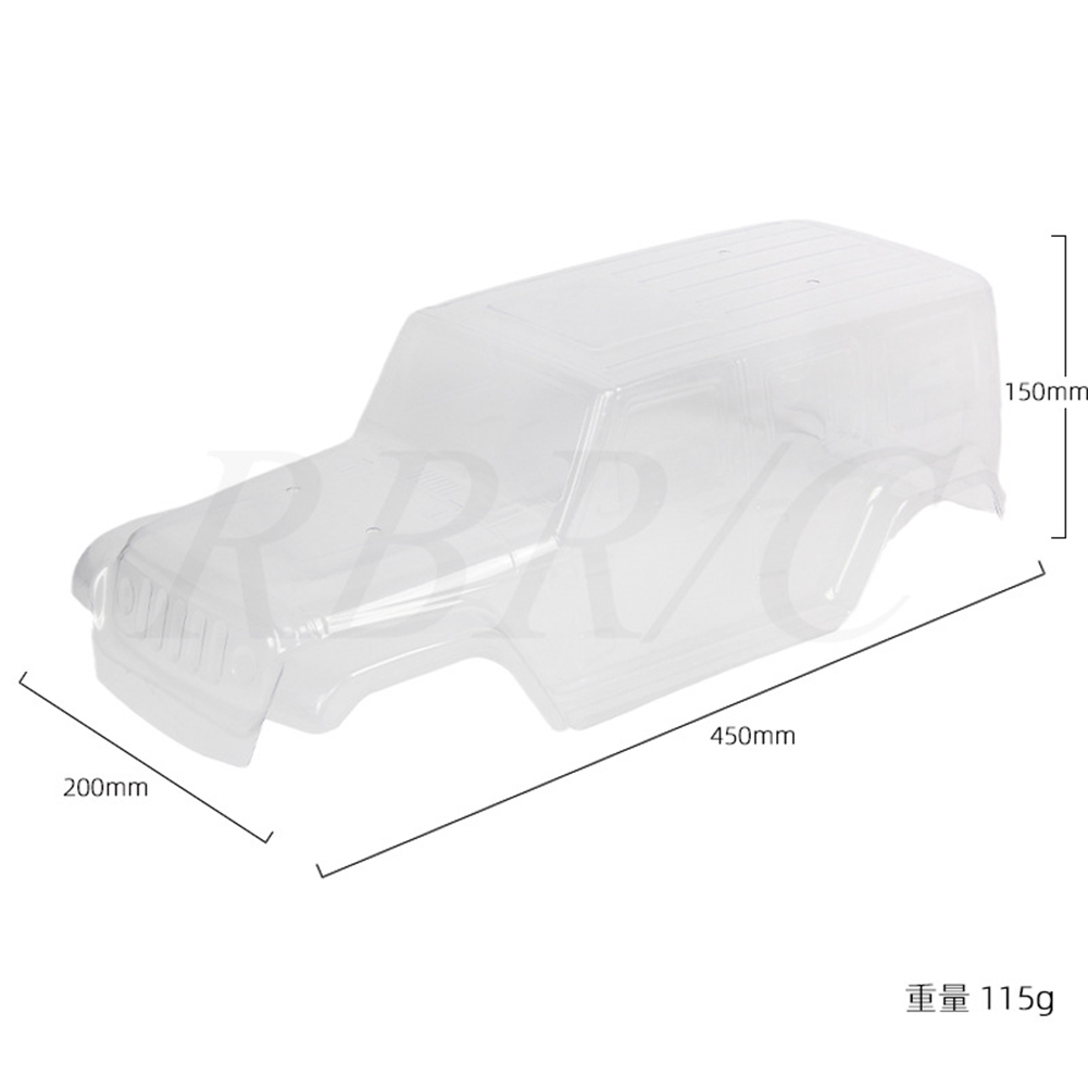 Simulation Shepherd Car  Shell Diy Modified Model Accessories For 313-wheelbase Chassis R672T 313 wheelbase transparent car shell