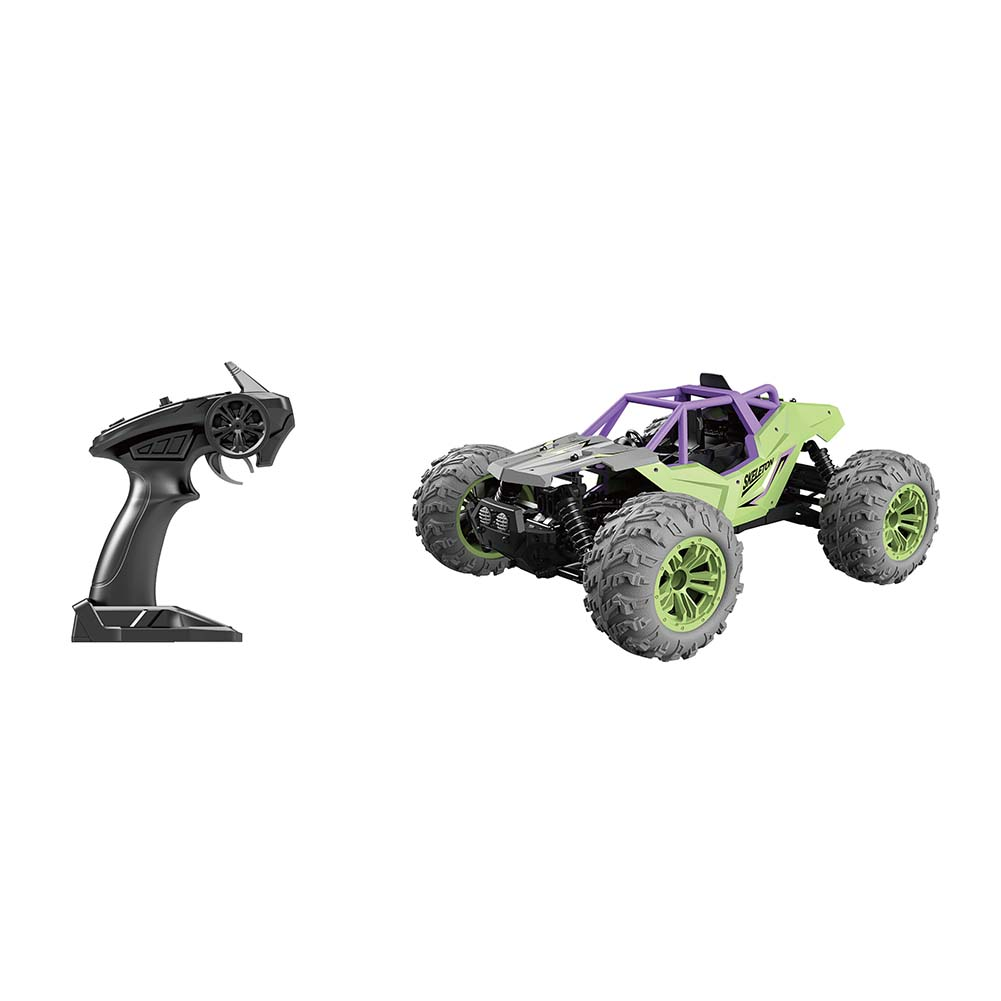 1/14 Scale RC Car Simulation Model Toy Four Wheel Drive Off-road Vehicle Gift for Kids green_G166