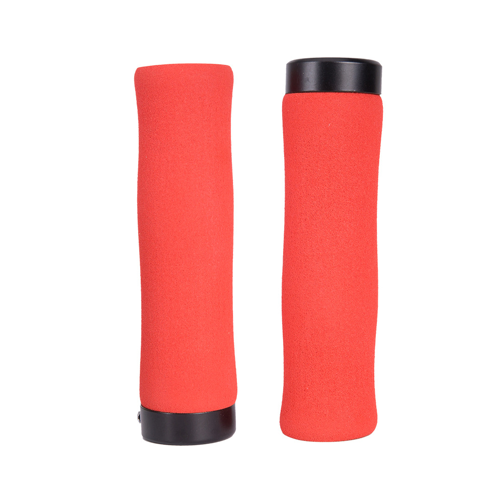 ZTTO Bicycle Handle Grip Sponge Handle Cover Soft Comfortable Bike Handle Cover Plug red