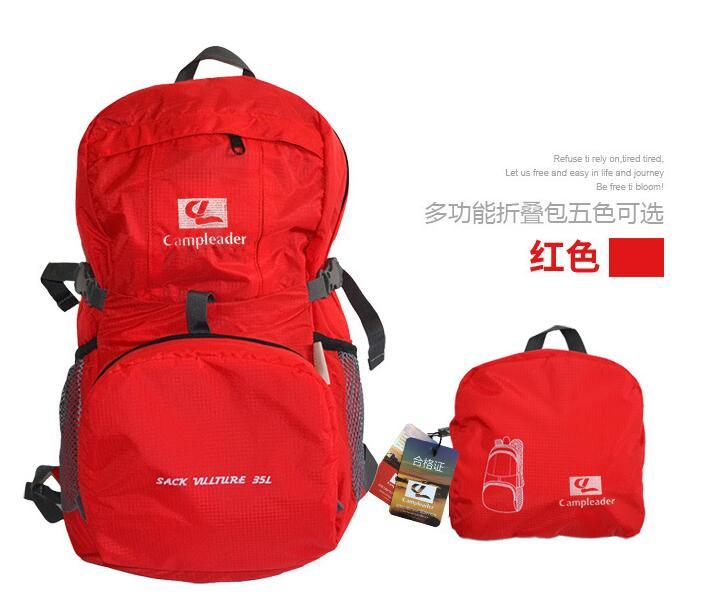 Outdoor Backpack Camping Climbing Bag Waterproof Mountaineering Hiking Rucksack red
