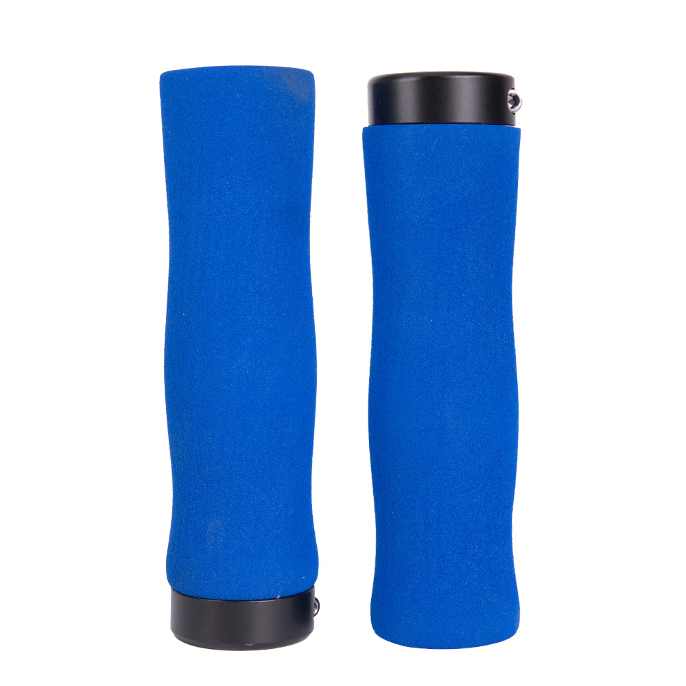 ZTTO Bicycle Handle Grip Sponge Handle Cover Soft Comfortable Bike Handle Cover Plug blue