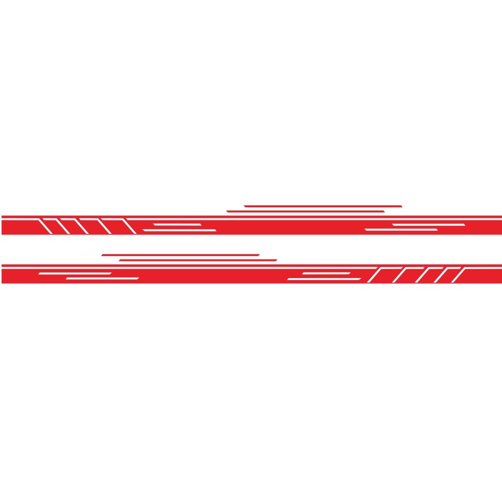 Vinyl Stripes Decal Car Body Side Wrap Black Graphics Waterproof Sticker red