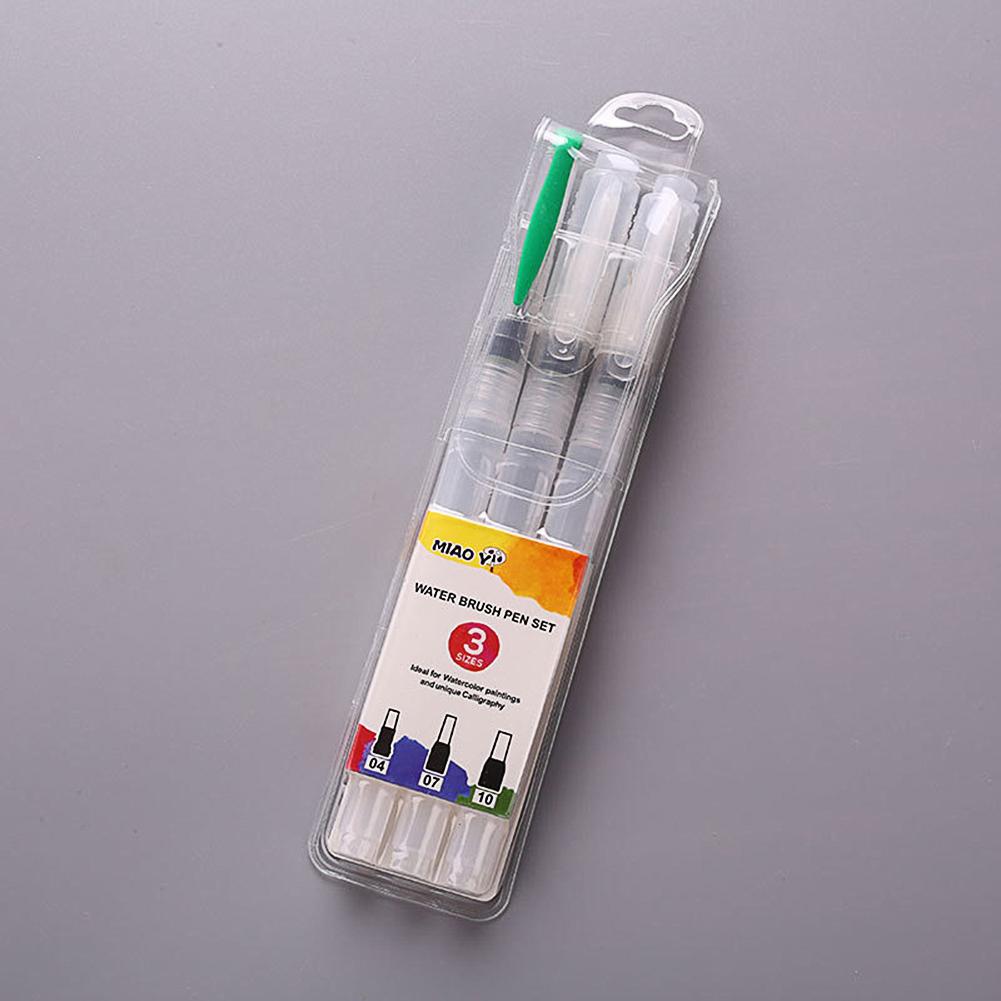 Solid Watercolor Fountain Pen Nylon Water Storage Brush Soft Pen