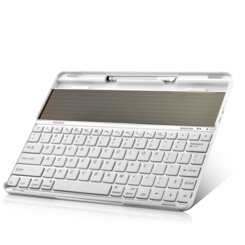 Solar Power Bluetooth Keyboard for Tablets