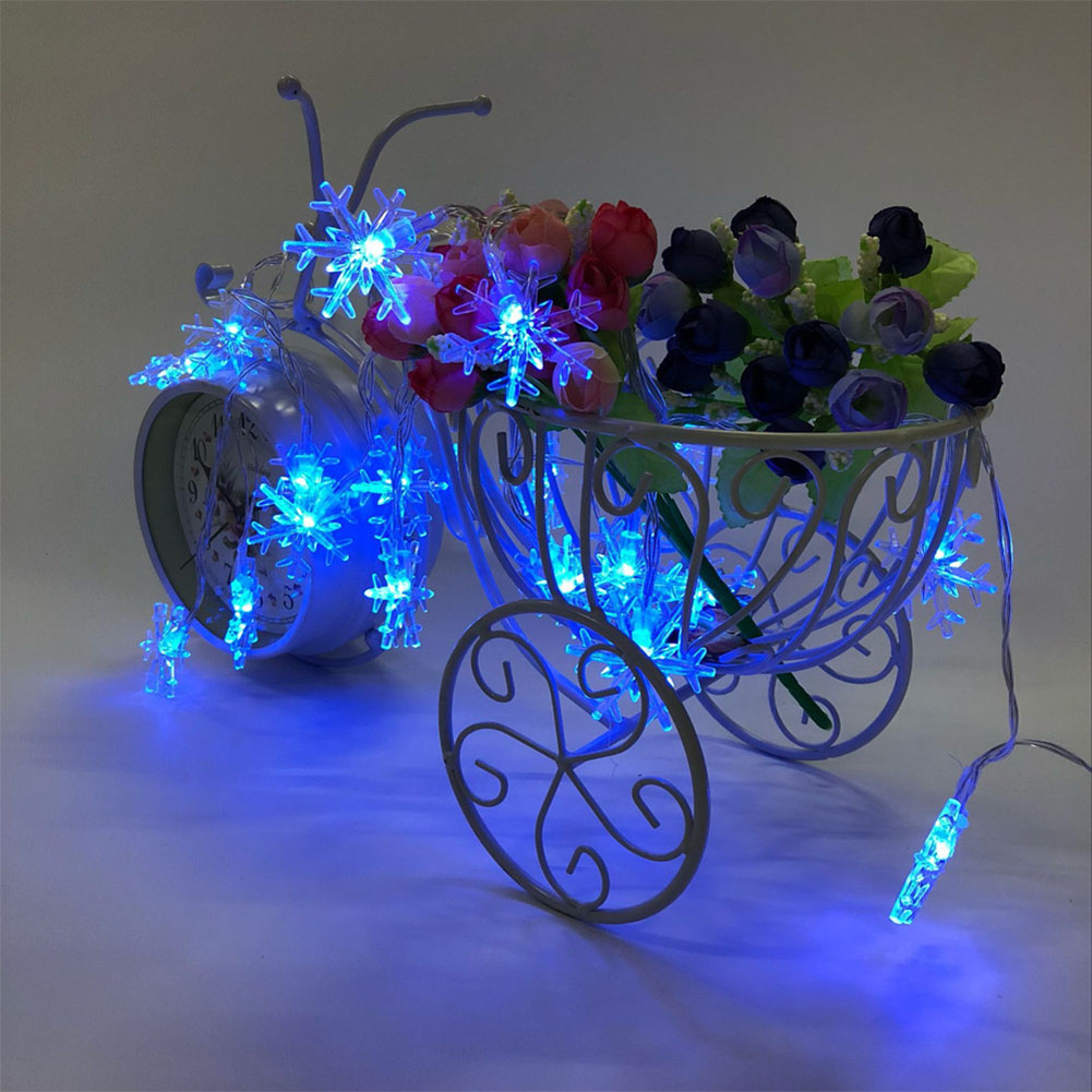 40 LED 6 Meters Christmas Party Wedding Outdoor Decor Snowflake Light String Blue light