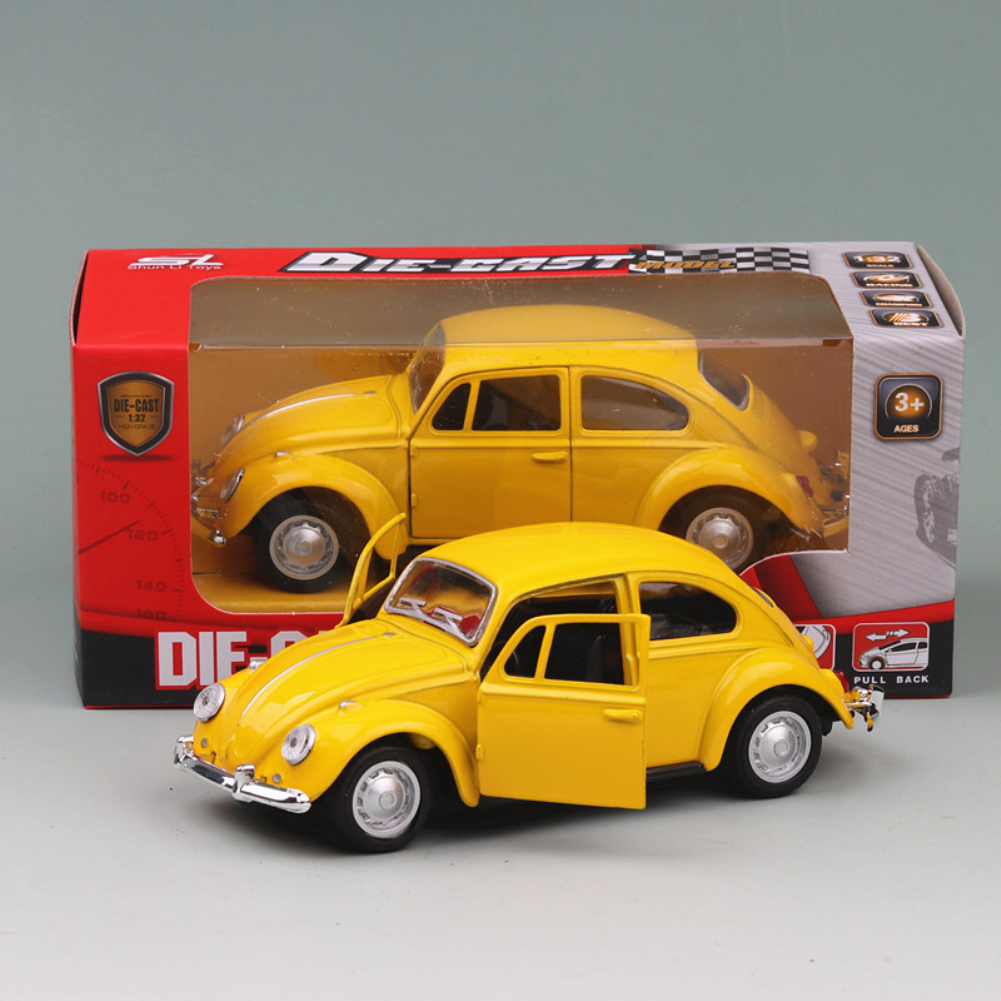 1:24 Alloy Simulation Car Off-road Vehicle with Light Sound Doors Open Delicate Collection yellow