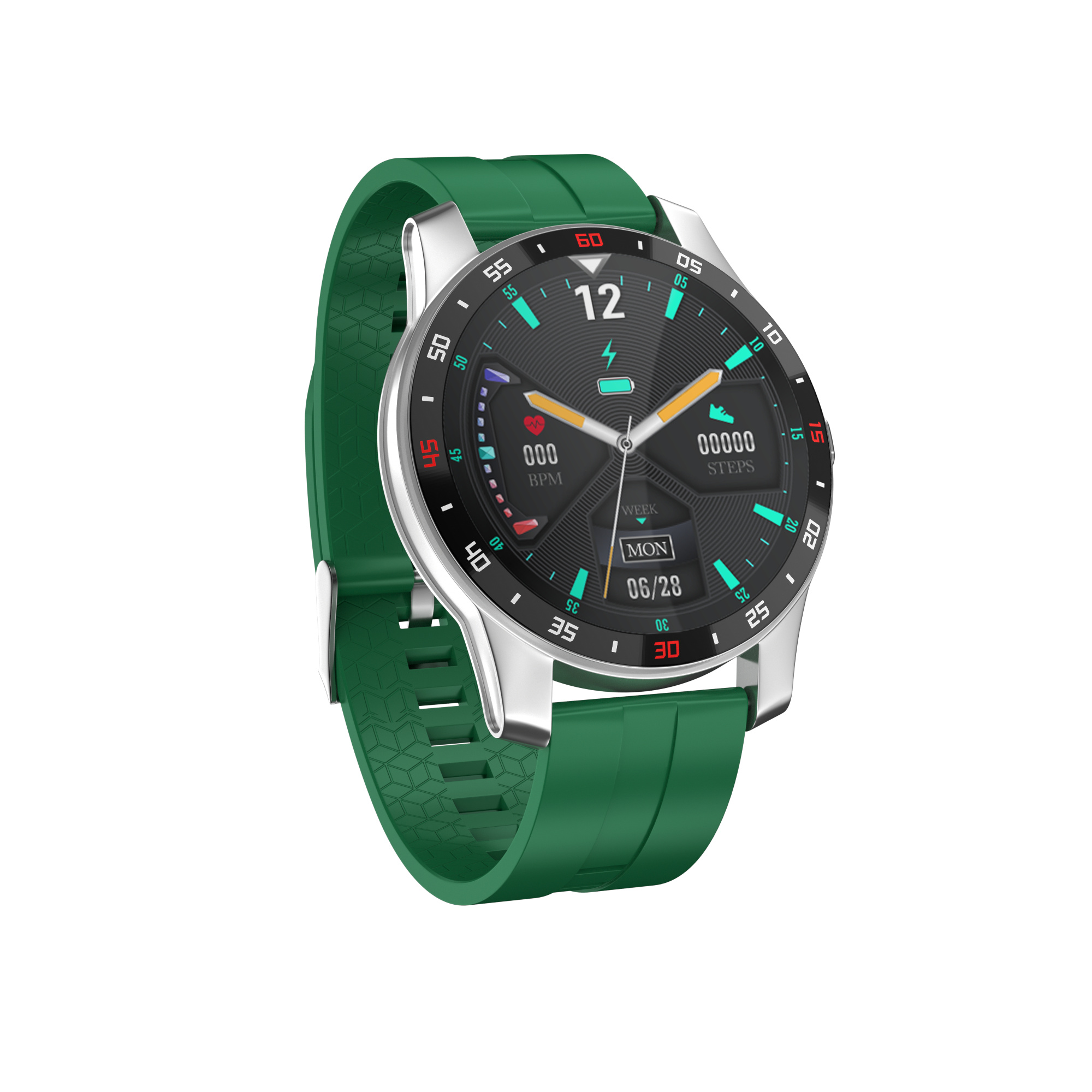 F12 Pro Bluetooth 5.0 Sports Smartwatches Color Display 280mah 24h Real Time Heart Tate Monitoring Smartwatch green