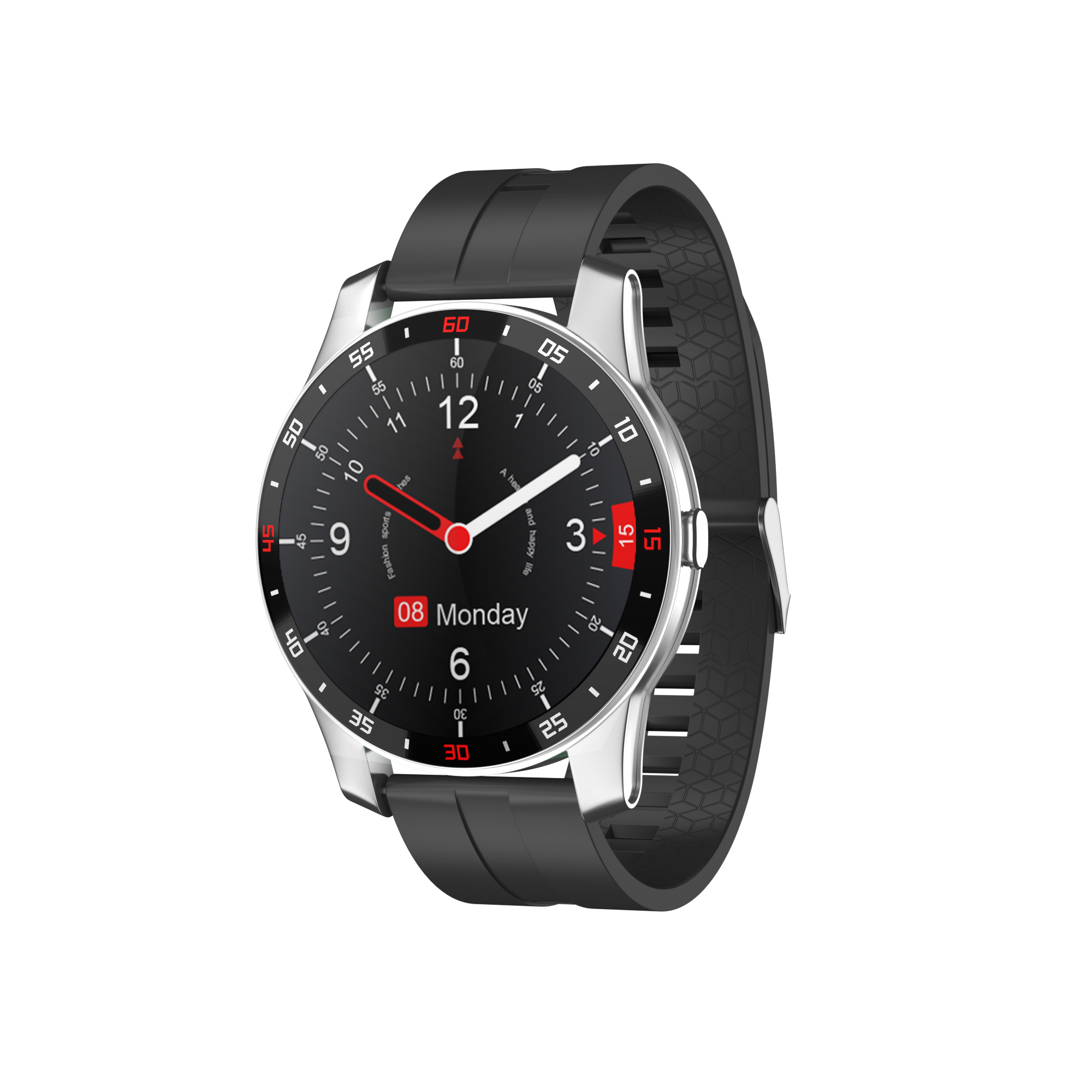 F12 Pro Bluetooth 5.0 Sports Smartwatches Color Display 280mah 24h Real Time Heart Tate Monitoring Smartwatch black