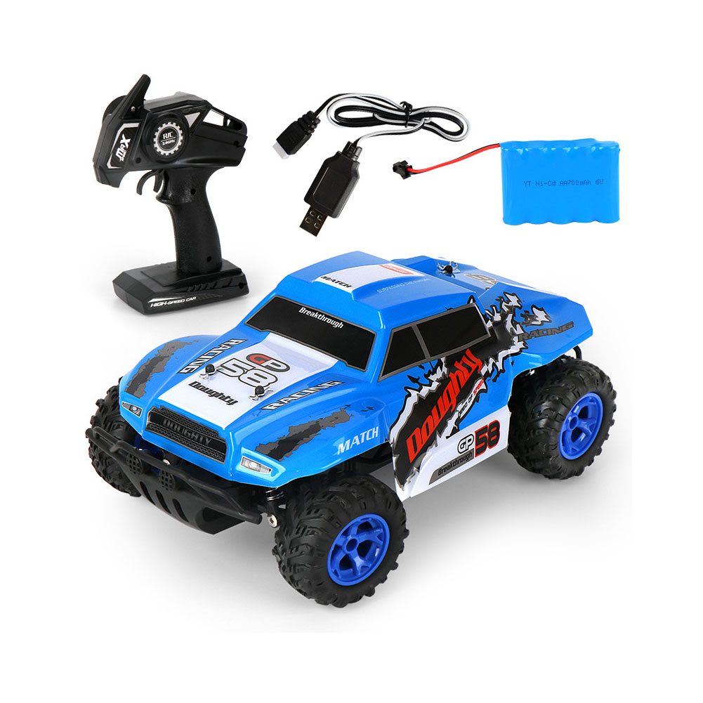 MGRC Climbing Electric Remote Control Car 1:14 Off-road High Speed Racing Toy High Speed Short Card Racing (Blue) MG32