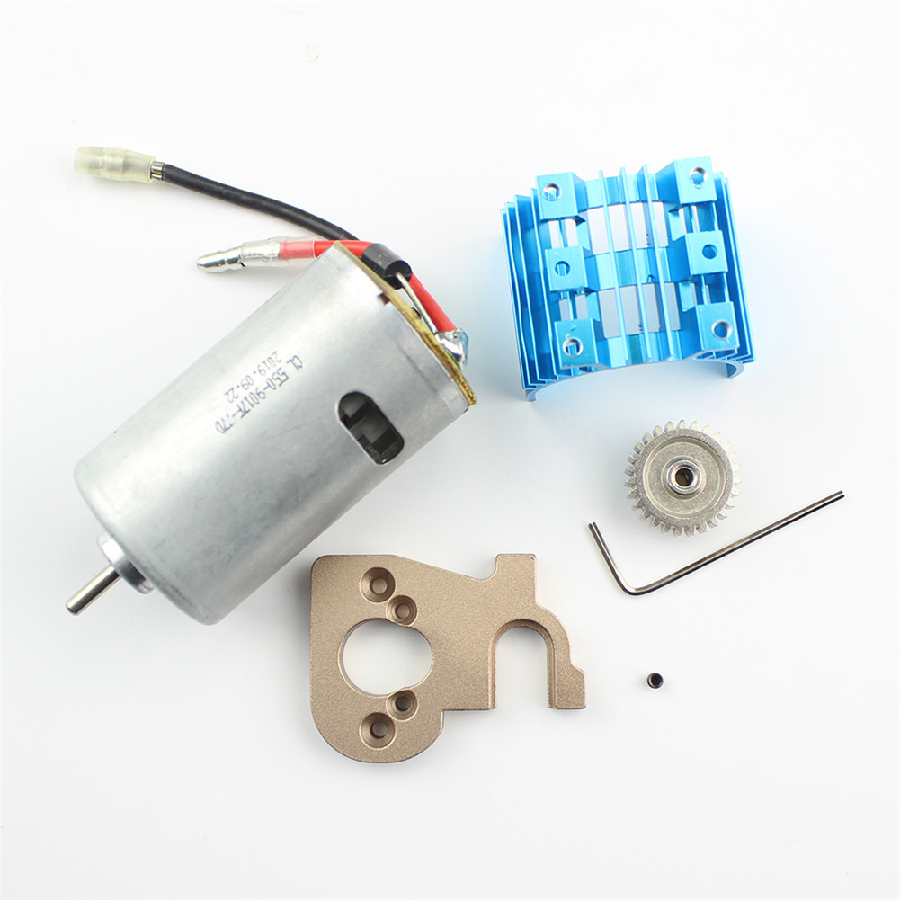 Metal 550 Carbon Brush Motor+ Motor Mount for WLtoys 144001 1/14 4WD RC Car Spare Parts default