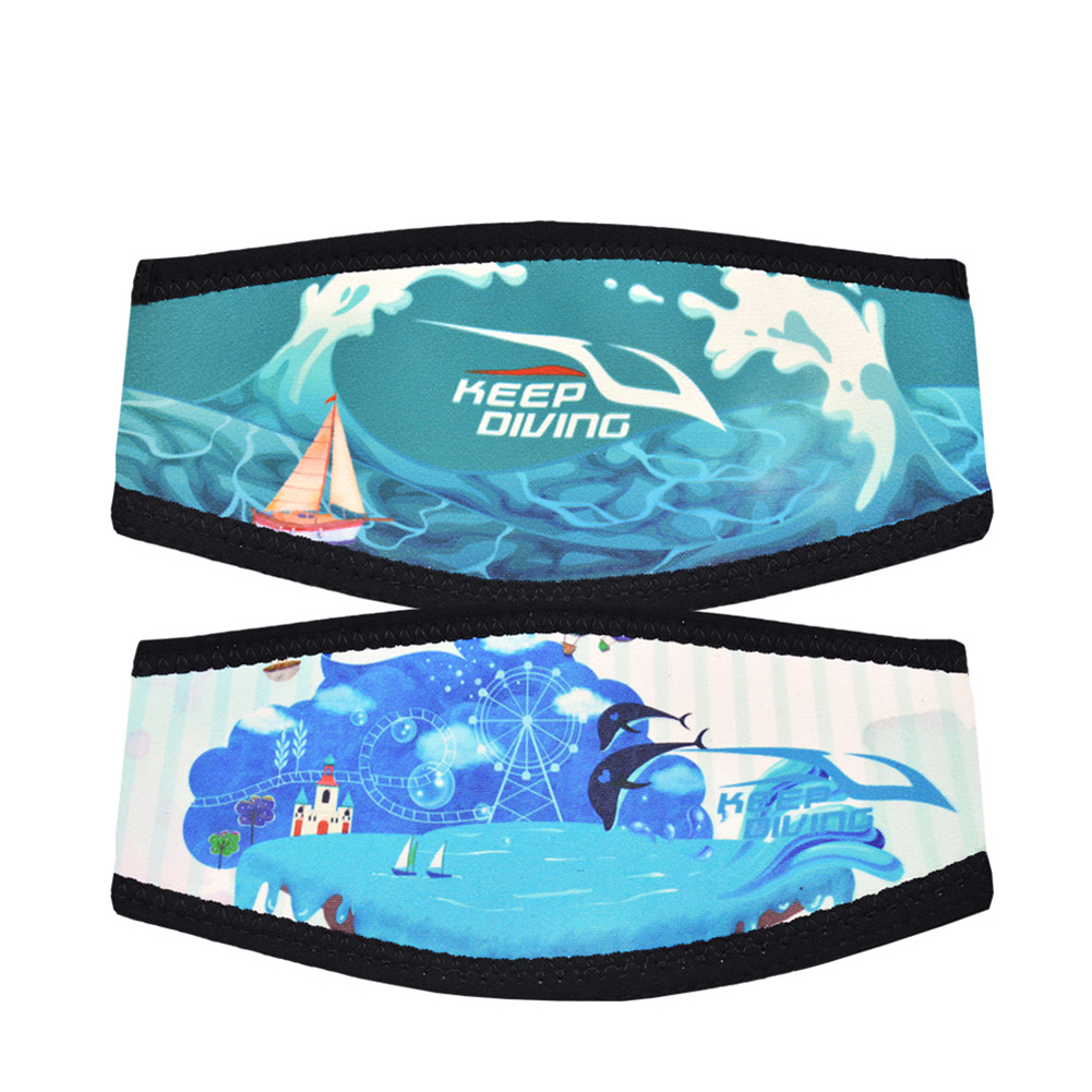 Diving Hairband Double-sided Printing Anti-wrapped Hair Protection Cover Diving Equipment Surf island