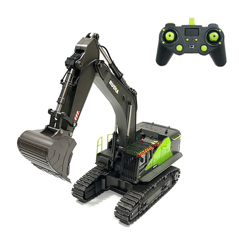 Excavator 22ch Rc  Truck 1/14 Remote  Control  Toys For  Boys  Huina  593  1593