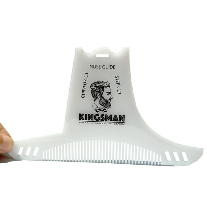 Beard Shaping Styling Template Beard Comb Men Shaving Tools Hair Beard Trim Template Comb white