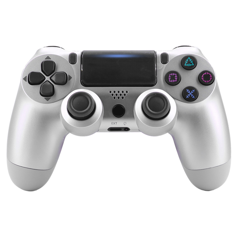 For PS4/Slim Controller Bluetooth 4.0 Mobile Gamepad with Light Bar Silver
