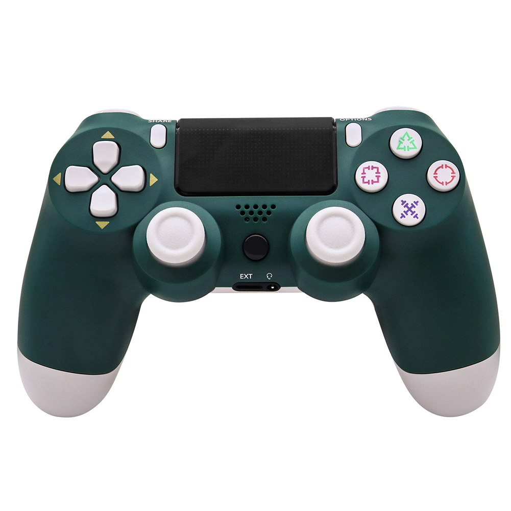 For PS4/Slim Controller Bluetooth 4.0 Mobile Gamepad with Light Bar Alpine green