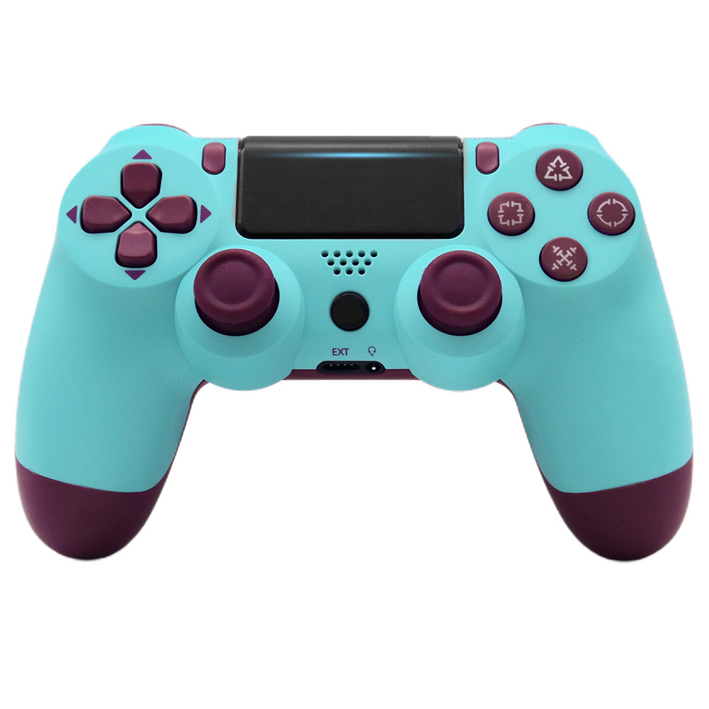 For PS4/Slim Controller Bluetooth 4.0 Mobile Gamepad with Light Bar Fruit blue