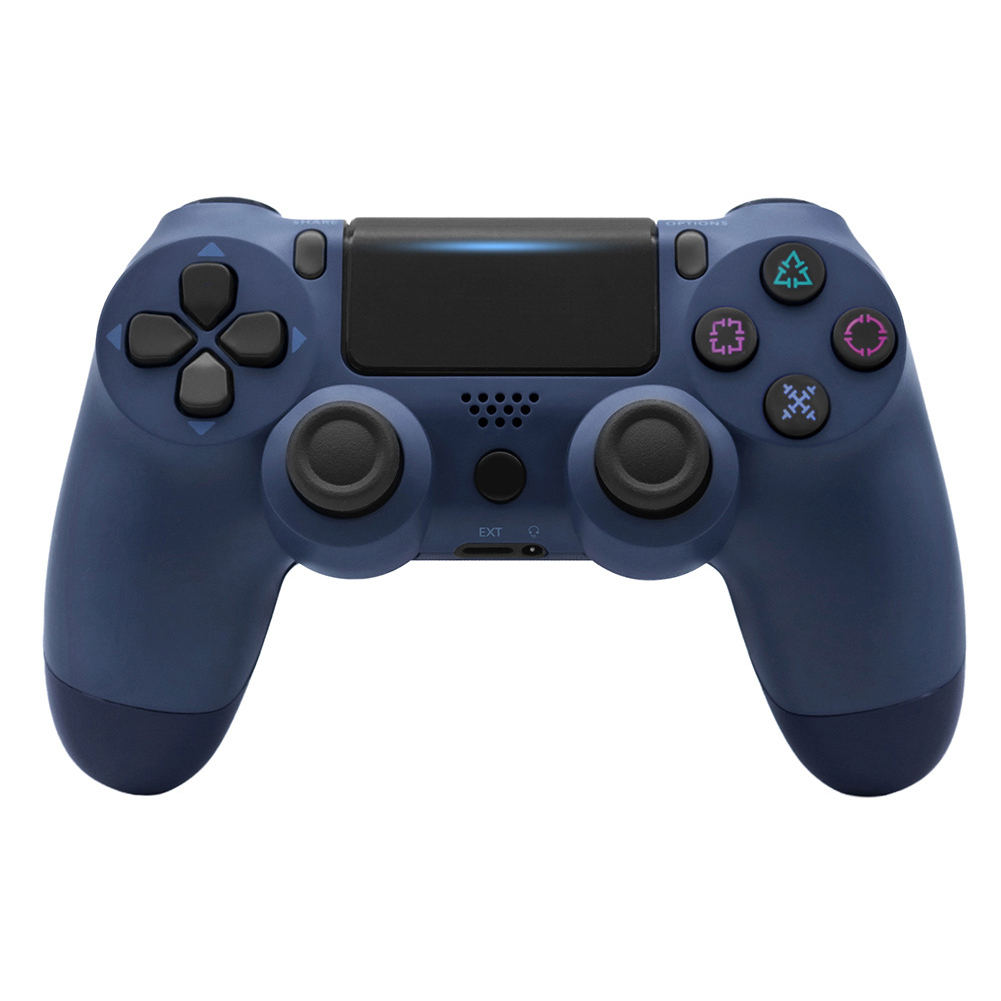 For PS4/Slim Controller Bluetooth 4.0 Mobile Gamepad with Light Bar Midnight blue