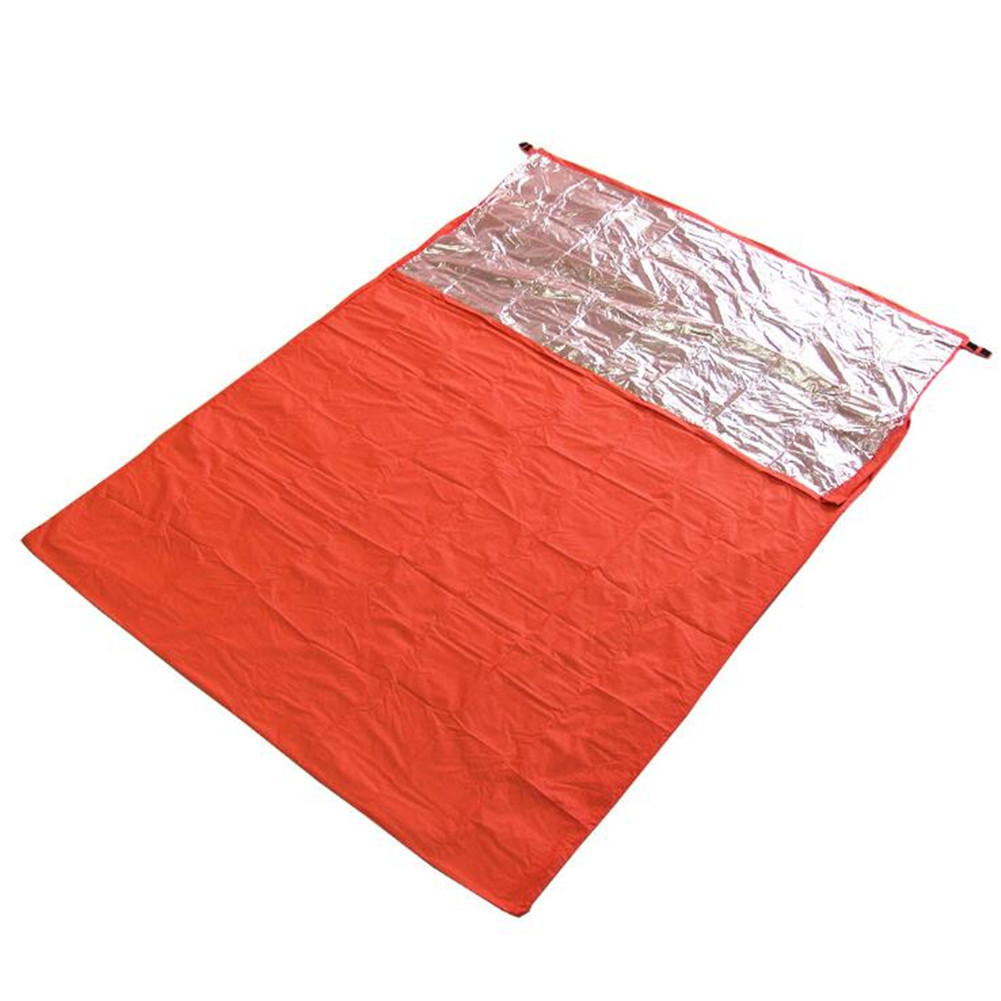 Camping Thermal Insulation Sleeping Bag Outdoor Adventure Emergency Rescue Blanket Double envelope type 200cm*145c