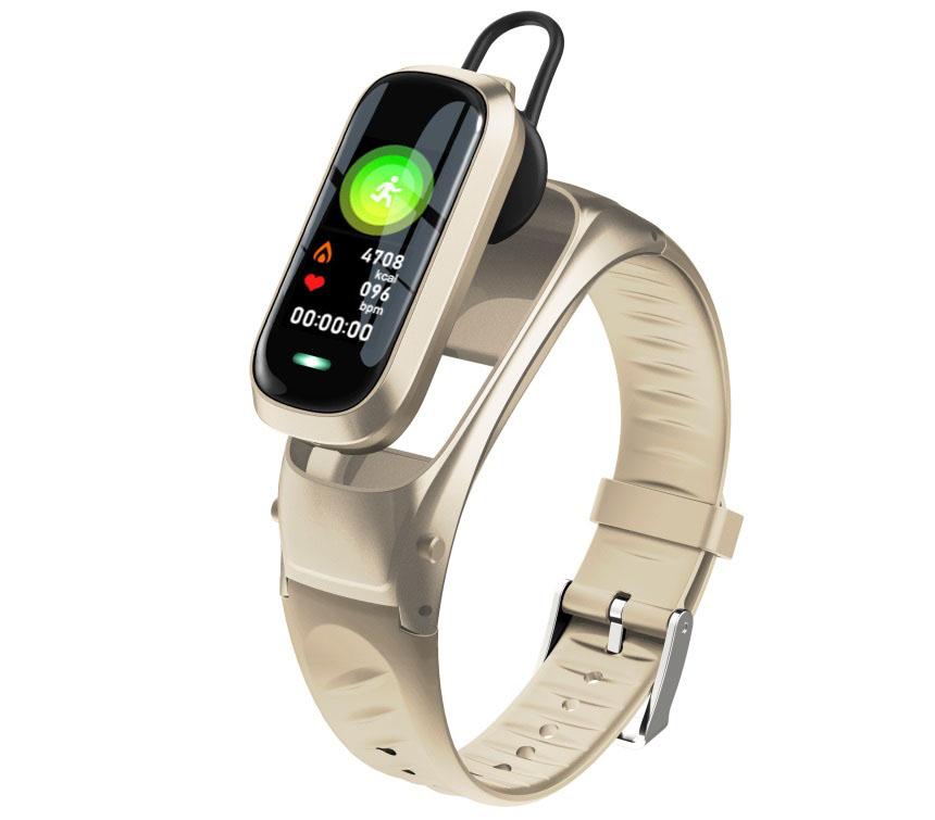 B9 Smart Bracelet Bluetooth5.0 Wristband Heart Rate Activity Sleep Monitor Fitness Tracker Intelligent Watch  gold