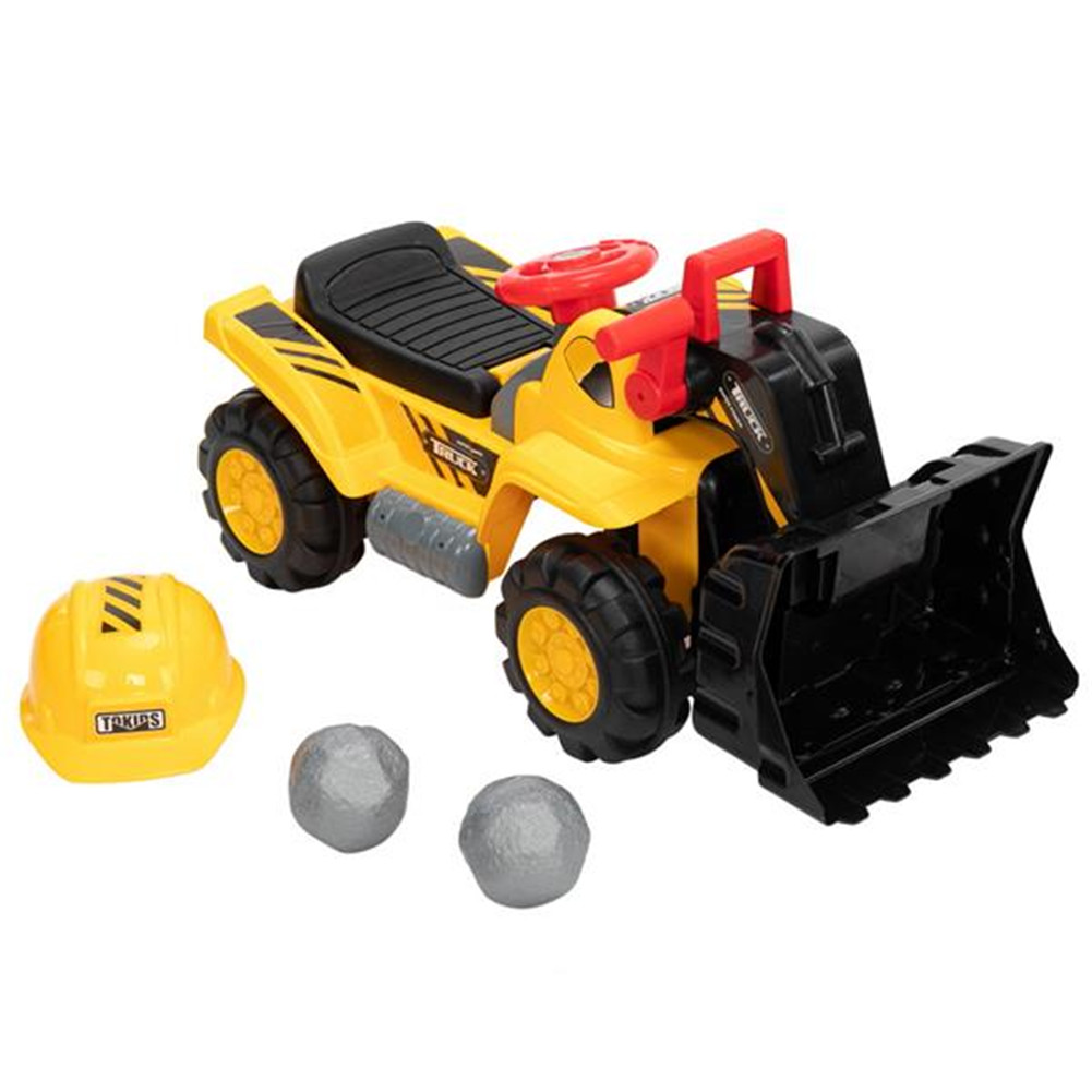 [US Direct] Original LEADZM Soil Shifter Simulate Stone Safety Cap For Kids Toddler Truck Toy yellow