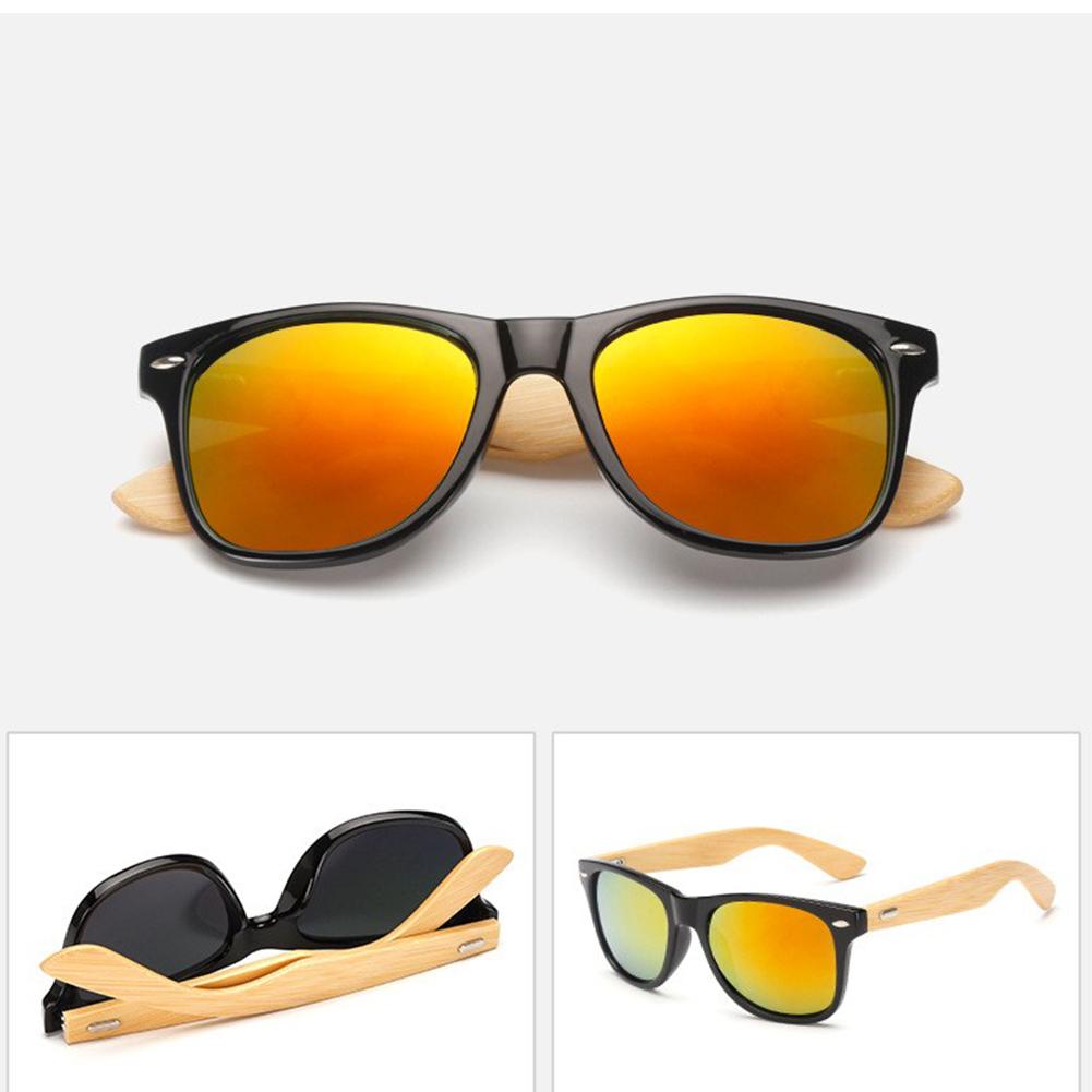 Classical Colorful Film Moso Bamboo Leg Sunglasses