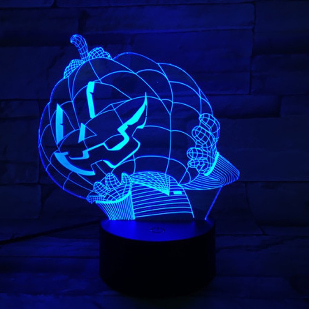 Halloween Pumpkins Shape USB Battery Powered 3D Atmosphere Night Light Halloween Pumpkin-2