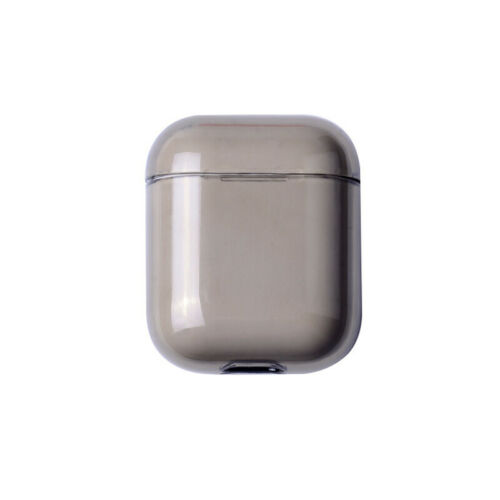 For Apple AirPods Transparent Case Cover AirPod Candy Color Hard PC Protector gray