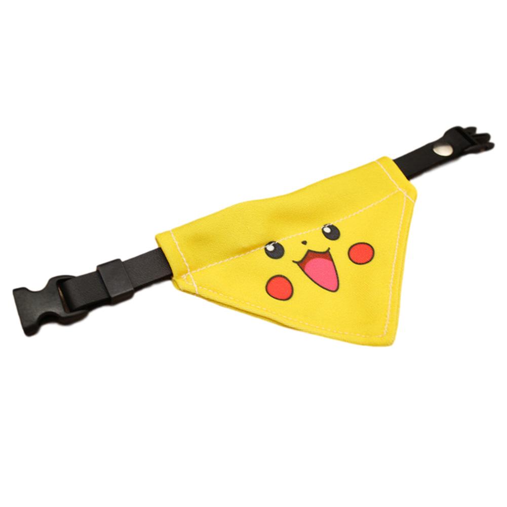 Pure Hand-made Pet Collar Cat and Dog Pikachu Triangle Scarf Necklace Bib Pikachu triangle_L