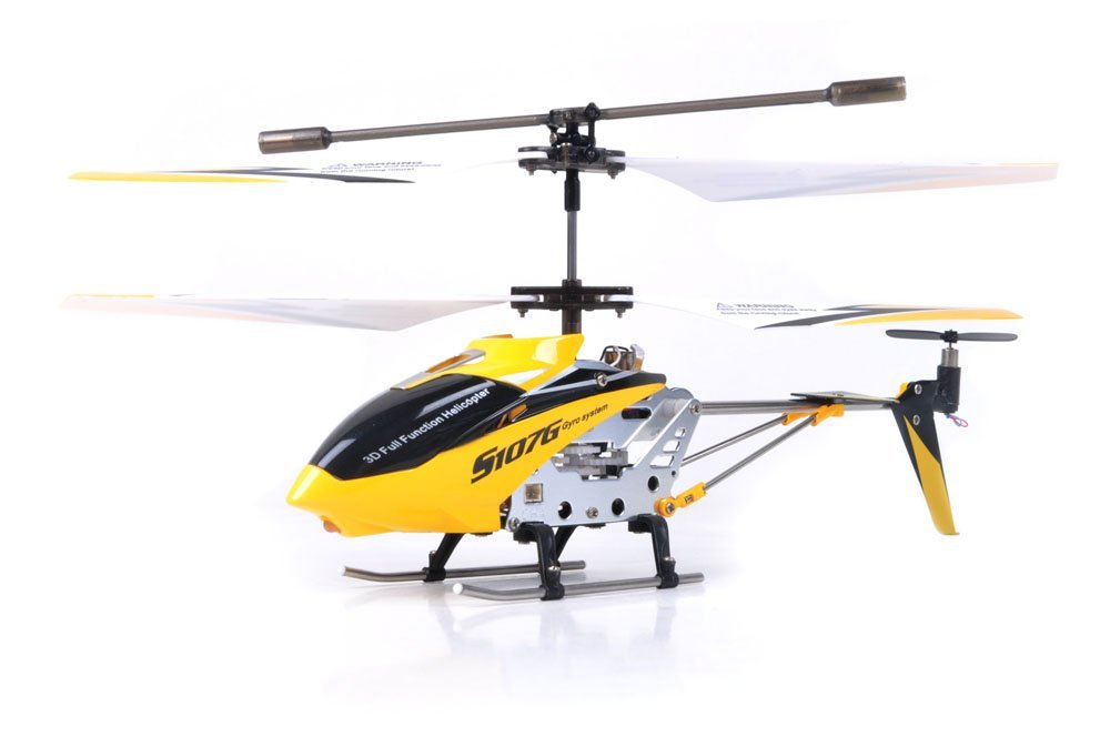 Qiyun Channel RC Helicopter with Gyro-Yellow